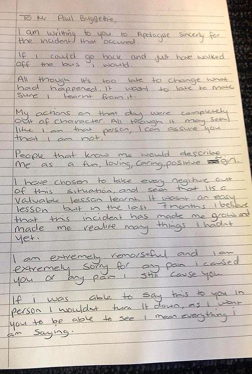 Larna Watmough's apology letter to Paul Buttigieg, part one.
