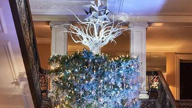The surprising history behind upside down Christmas trees