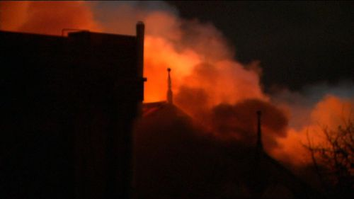 Authorities took 30 minutes to stop the blaze from spreading to a neighbouring factory and say the damages bill could be around $250,000. Picture: 9NEWS.