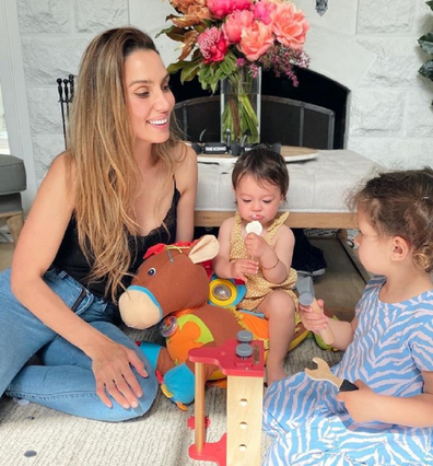 Snezana Wood with her daughters Charlie (left) and Willow.