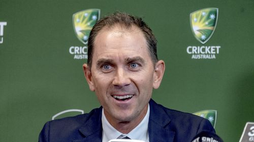 Justin Langer speaks to the media after finally getting the Australian coaching job he craved.
