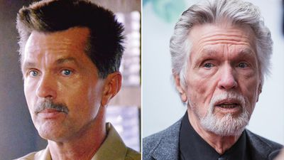 "Tom Skerrit appeared in the film as chief instructor Cdr Mike ""Viper"" Metcalf. (Paramount Pictures/Getty)"