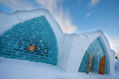 3. Ice hotels