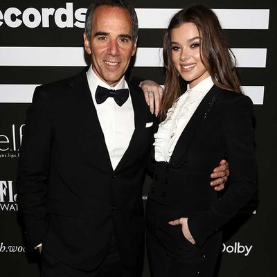 Republic Records CEO Monte Lipman with Hailee Steinfeld