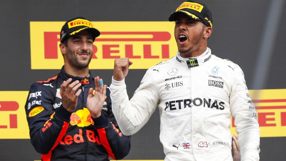 Lewis Hamilton holds Sebastian Vettel out at Belgian Grand Prix while Daniel Ricciardo finishes third