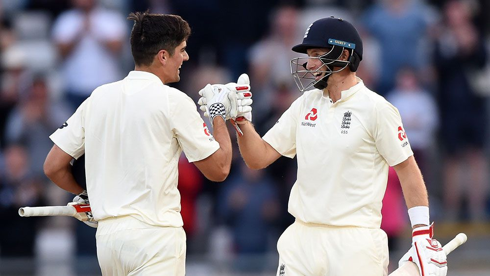 Joe Root, Alastair Cook Test tons put England on top against West Indies at Edgbaston