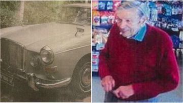 Ronald McMaster was last seen driving is unique light grey 1965 Austin sedan with registration plates 987 84H, he hasn't been seen since Saturday.