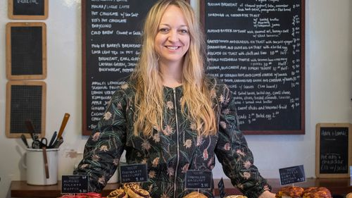 Pastry chef Claire Ptak, owner of Violet Bakery, which hails from hipster-central Hackney in East London, will make the cake. (PA/AAP)