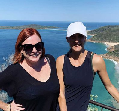 Shelly Horton and Jeanine Bribosia at Port Stephens