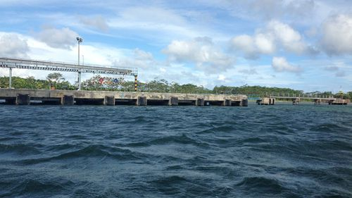 The port at Cilacap on the mainland where the prisoners will board the ferry to take them to Nusa Kambangan. (9NEWS)