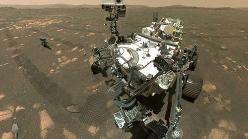 La perseverancia llegó en febrero al cráter Jezero en Marte para buscar rocas que pudieran contener evidencia de vida antigua.