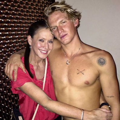 Angie Simpson and Cody Simpson.