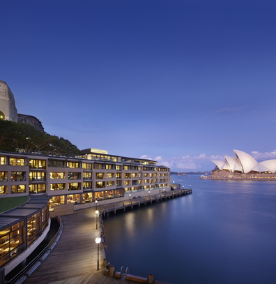 Park Hyatt Sydney exterior with Opera House in the background