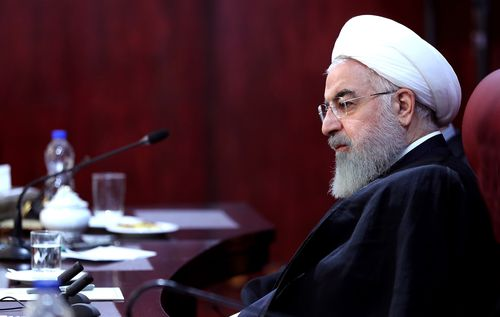 "Iran's President Hassan Rouhani says the US imposed sanctions will cause a ""war situation"" in his country."