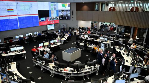 NSW Rural Fire Service control room in Sydney.