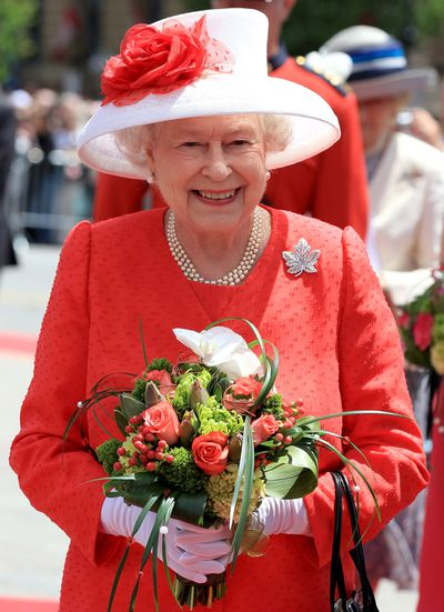 Queen Elizabeth's Canadian Maple-leaf brooch