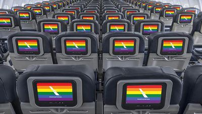 "American Airlines: ""We're on board. Diversity strengthens us all & today we celebrate #MarriageEquality."""