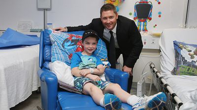<p>Former Australian cricket captain Michael Clarke paid a visit to the Sydney Children's Hospital today where he stopped to chat with patients and families.</p><p>Clarke visited children and posed for photos after announcing his plan to joining the Perpetual Loyal yacht racing team at a press conference at the hospital. (Getty)</p><p><strong>Click through to see more pictures from the day.</strong></p>