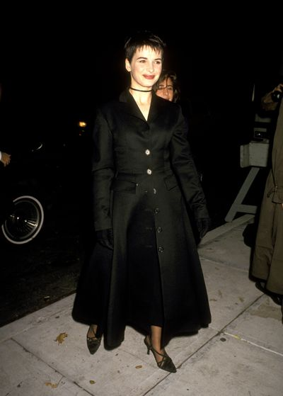 At the premiere of <em>Damage </em>in 1992 Juliette Binoche opted for pixie goth. It was a phase.