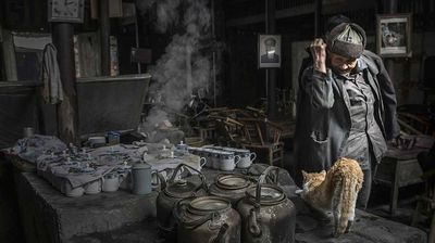 """The old teahouse: """"The teahouse is in the town of Peng, Shuangliu county, Sichuan Province of China. The old teahouse is well preserved existing teahouse with longest history. It has a large number of old customers."""" Zeng Jin Wen, 2nd place, China, National Award, 2015 Sony World Photography Awards."""