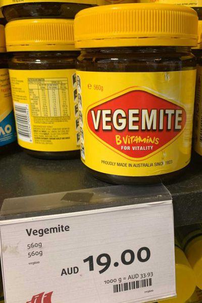 $19 jar of Vegemite outrages internet