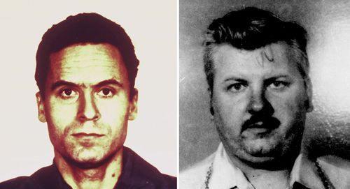 Two of America's worst serial killers, Ted Bundy and John Wayne Gacy, pictured in 1979 and 1978 respectively.
