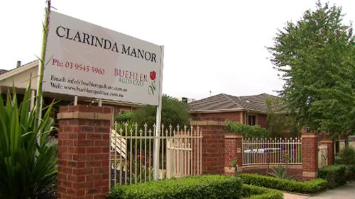 Ms Pavlopoulou was wheeled out of her room at Clarinda Manor nursing home yesterday afternoon. (9NEWS)
