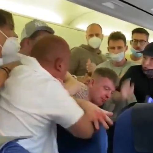 Video shows brawl on plane over mask wearing