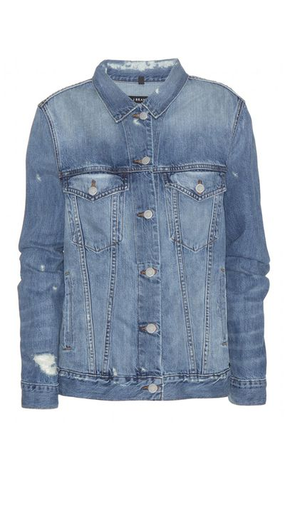 "<a href=""http://www.mytheresa.com/en-au/distressed-denim-jacket.html"" target=""_blank"">Jacket, $353, J Brand at mytheresa.com</a>"