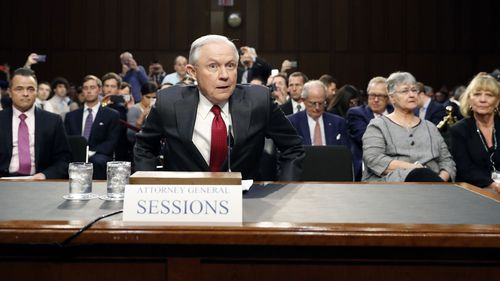 Jeff Sessions testifies before Congress. (AAP)