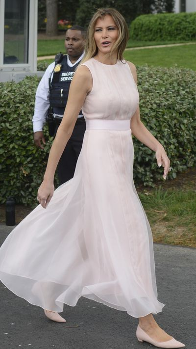 <p>Jackie Kennedy had Oleg Cassini, Nancy Reagan had Galanos and now Melania Trump seems to be stitched up with Herve Pierre. The designer has stepped into the brink after Tom Ford, Sophie Theallet, Christian Siriano, Marc Jacobs, Zac Posen and Derek Lam refused to collaborate with Melania in protest of Donald Trump's policies.&nbsp;</p> <p>The First Lady stepped out in a belted sleeveless dress in blush from the former creative director at Carolina Herrera for the annual Easter Egg Roll on the White House South Lawn.&nbsp;</p> <p>The dress was structurally similar to the dress worn by Melania to greet Queen Rania of Jordan, and advocate for women&rsquo;s rights in the Middle East who if frequently featured on the International Best Dressed List.&nbsp;</p> <p>This time Melania wore matching Christian Louboutin pointed-toe flats instead of stilettos to stop her from sinking in to the grass.&nbsp;</p> <p>Herve also worked with Melania on her inauguration gown and has become a favourite of the First Lady, along with Dolce &amp; Gabbana and Gucci.&nbsp;</p> <p>Meanwhile First Daughter Ivanka has  been spreading her style wings, stepping out recently in a $5000 Oscar de la Renta lace dress.<br /> <br /> </p>