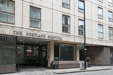 A General View of The Portland Hospital on Great Portland St on February 10, 2021 in London, United Kingdom