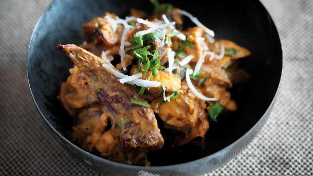 Caldin mushroom curry