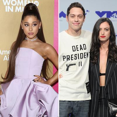 Ariana Grande, Pete Davidson and Cazzie David