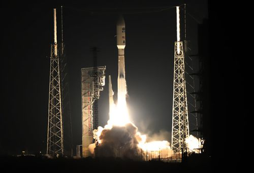 An Atlas V rocket with NOAA's Geostationary Operational Environmental Satellite, lifts off at Cape Canaveral. (AFP / NASA)