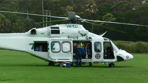 It is believed the man clipped trees at the park before falling 20 metres to the ground (Supplied).