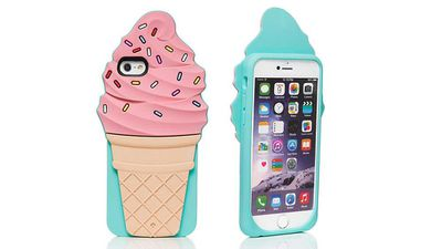 "<strong>Ice cream cone iphone 6 case</strong>, RRP $45, <a href=""https://www.katespade.com/products/ice-cream-cone-iphone-6-case/8ARU1420.html"" target=""_top"">katespade.com</a>"