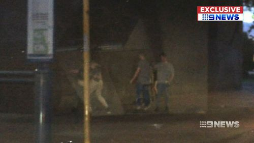 The second display of violence on Morphett Street early Sunday morning.