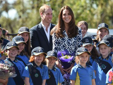 Prince William and Kate Middleton in Winmalee, 2014.