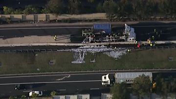 M5 East reopened with reduced speed limit after truck fire