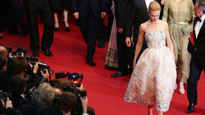 The actress wears Dior Haute Corture at the opening ceremony of the Cannes film festival in 2013.