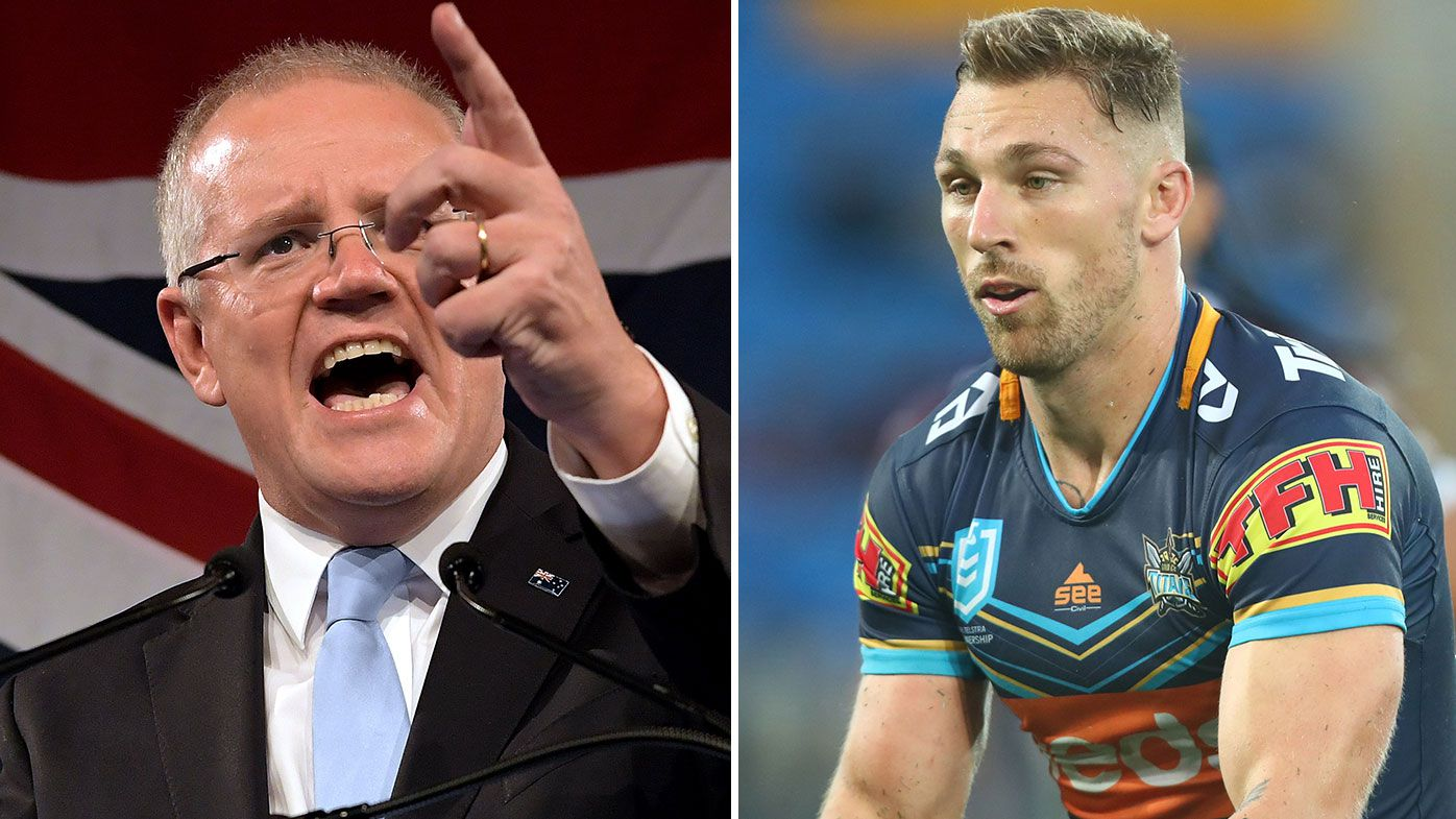 Prime Minister Scott Morrison wants 'no jab, no play' for NRL players in relaunch