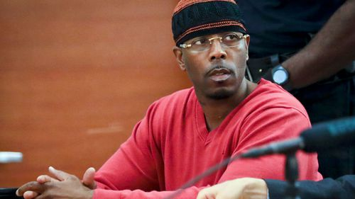 Calvin Buari during a hearing of his case in the Bronx Criminal Court. (AP).