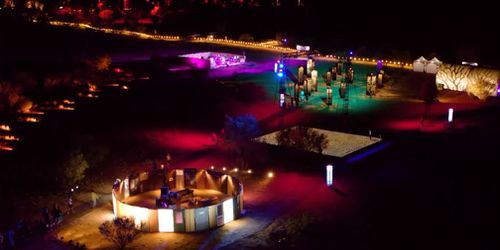 Thousands of visitors are expected to visit the lit up sites across Alice Springs Desert Park.
