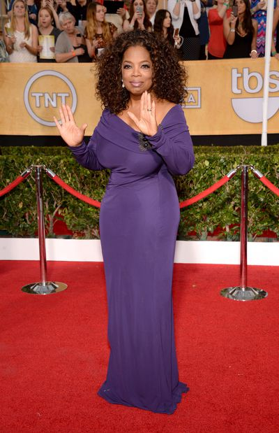 Fabulous and flawless in Badgley Mischka at the 2014 Screen Actors Guild Awards