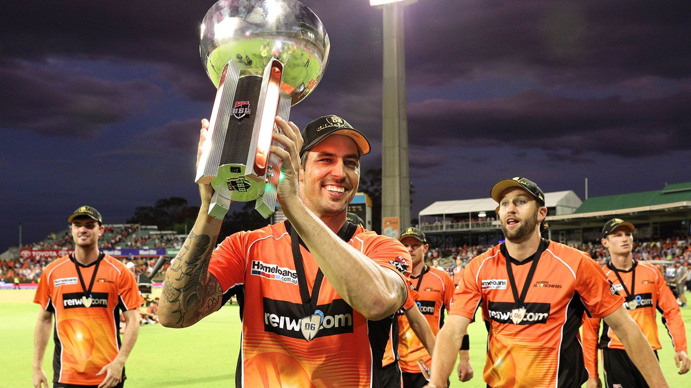 Mitchell Johnson after Perth Scorchers won the BBL06 title.