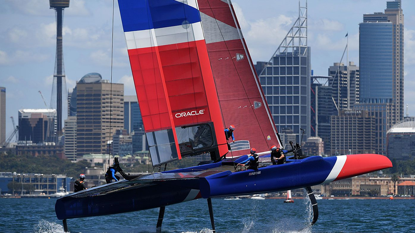 France in Sail GP practice