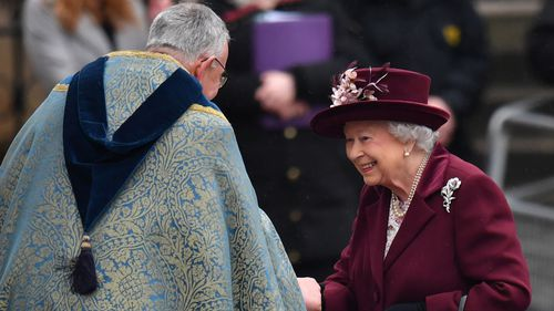 "The service was held in celebration of the Queen's ""lifetime commitment to the Commonwealth."" (PA/AAP)"