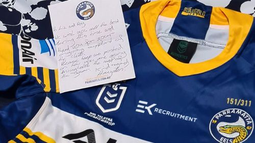 Parramatta Eels send fan surprise in mail after open heart surgery