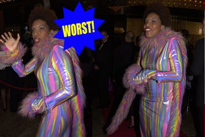 We're all for crazy outfits, and we're all for Macy Gray, but this one's a little bit too 'Rainbow Cheshire Cat' to be cool.